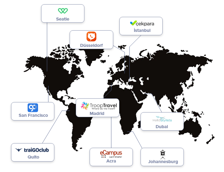 Smartup Network Startup Mobile App Products Map