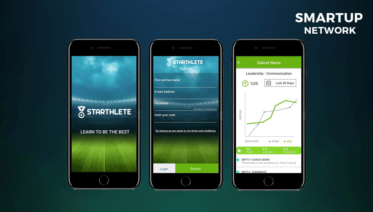 """Starthlete, used by Benfica and Seattle United soccer academies, is the ultimate mobile application to rate players' performances! """