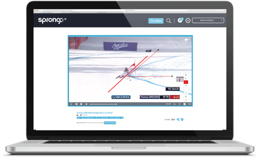 Startup sprongo desktop for athletes